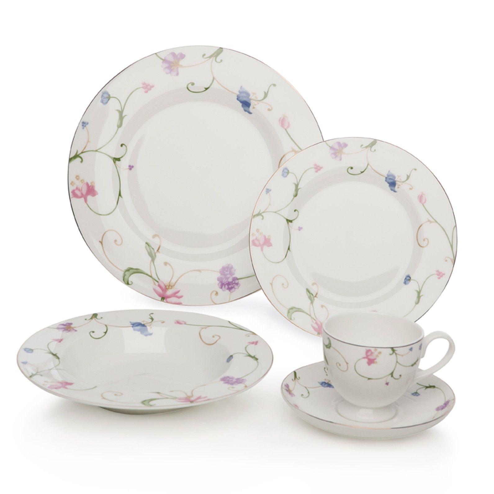 20pc floral bone china dinner set lovely dinnerware pinterest  sc 1 th 224 & Cream Dinner Sets Uk. tableware serveware dinner sets serving dishes ...