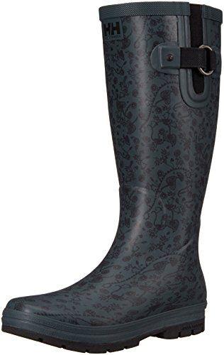 Helly Hansen Women's Veierland 2 Graphic Rain Boot, Rock/Jet Black/Blanc De  Blanc, 7 M US *** This is an Amazon Associate's Pin. You can get more d…