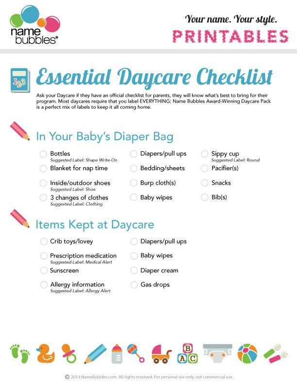 the essential daycare checklist child care toddler daycare newborn daycare daycare rooms. Black Bedroom Furniture Sets. Home Design Ideas