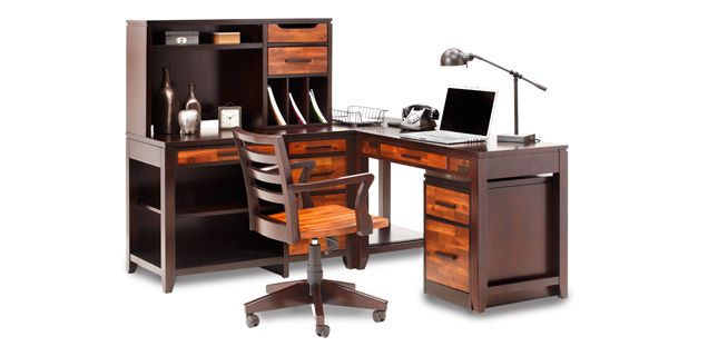 Oak Express Arcadia 4 Pc Desk Set Ds Pkaro4 Elegant Dining
