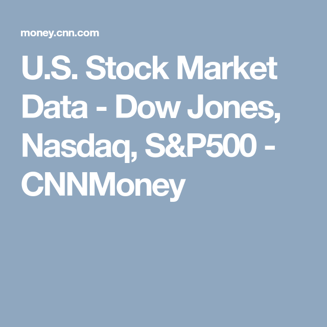 Nasdaq After Hours Quotes Unique U.sstock Market Data  Dow Jones Nasdaq S&p500  Cnnmoney  Us . Inspiration Design