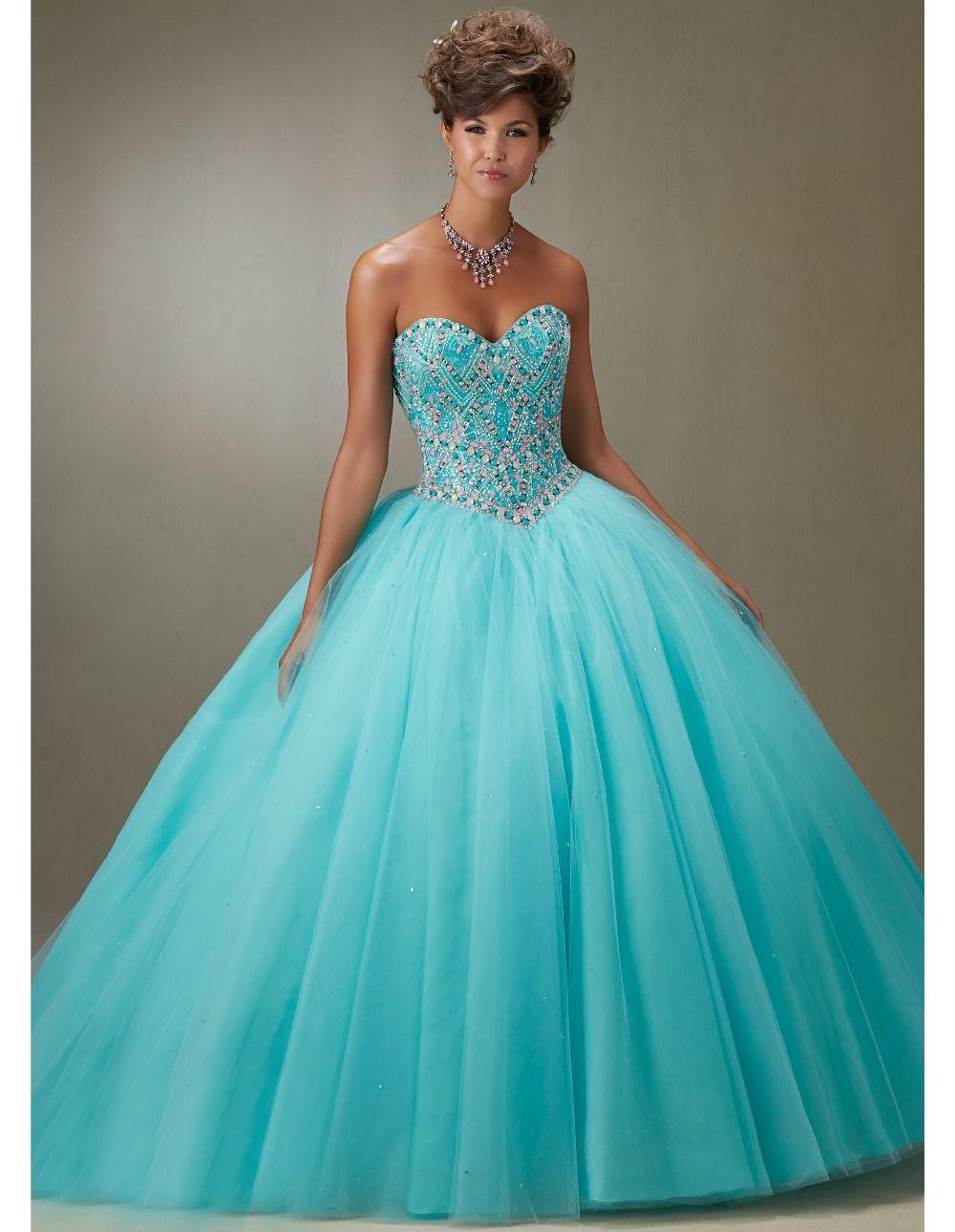 vestido de lace up debut ball gowns organza crystal quinceanera ...