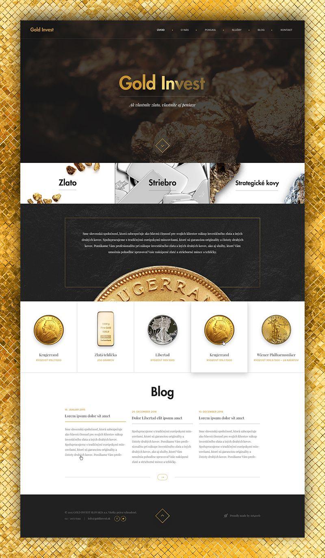 Gold Invest By Lukas Majzlan 웹디자인 웹 배너 디자인 웹사이트