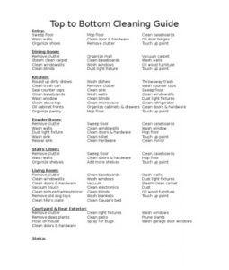 deep cleaning checklist
