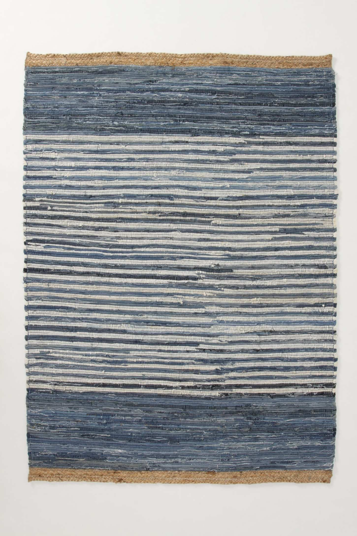 Colourblocked Denim Rug | Anthropologie.eu