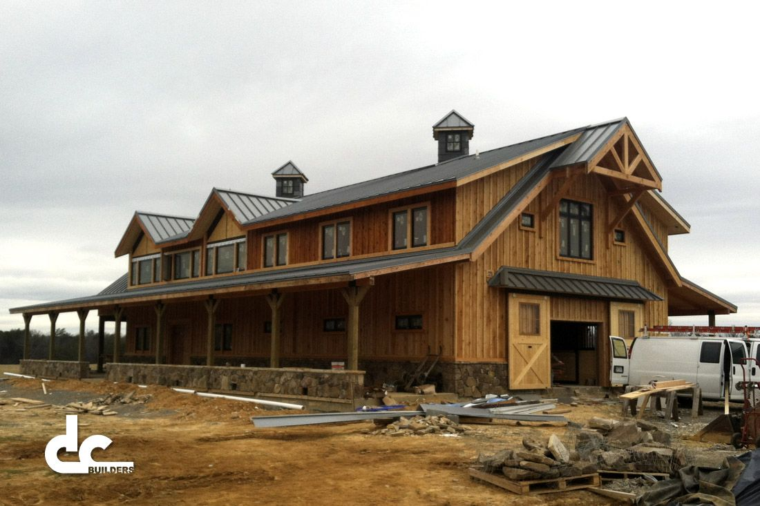 Barn home this 72 39 long custom barn home is a true horse for House horse barn plans