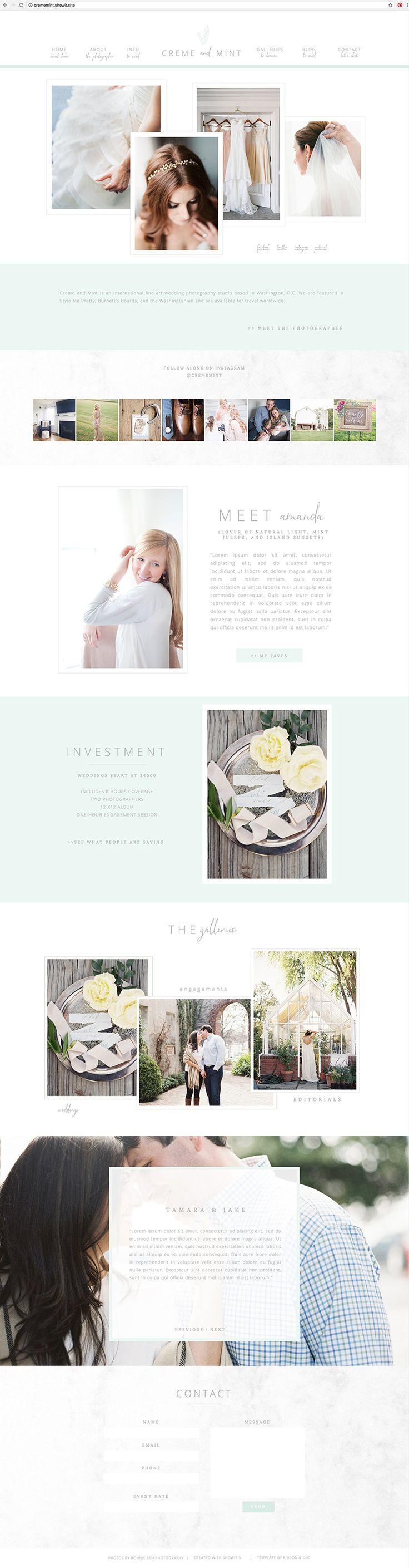 showit5 / website template / photographer website / branding / brand design / web design / website design
