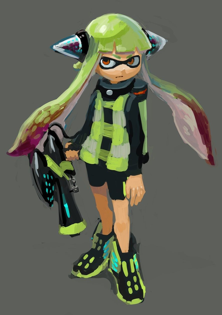 What Does Your Squid Look Like I Picked Girl Grey Eyes And Very