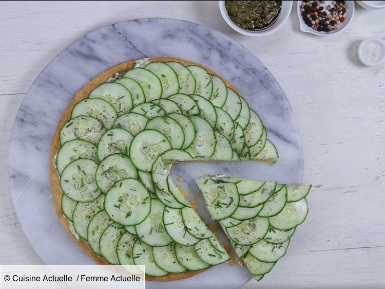Une tarte au concombre fraîche et super facile pour lété