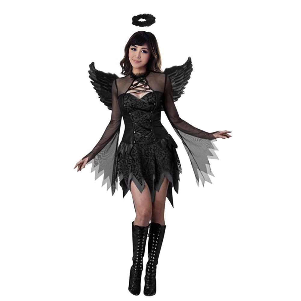 Werbung Sexy Halloween Kostum Cosplay Kostum Schwarzer Engel