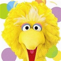 16 Sesame Street Elmo Party Lunch Napkins