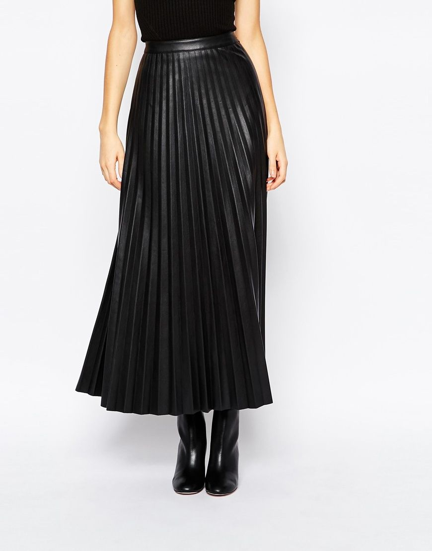 Urbancode Faux Leather Pleat Maxi Skirt | Leather, Maxi skirts and ...