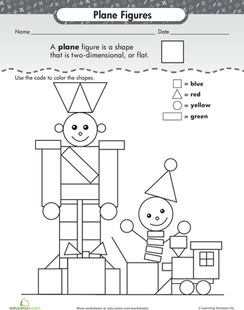 Shape Dimensions Worksheets Planes And Shapes