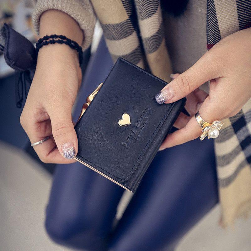 Women's Wallets Three fold short paragraph students love PU
