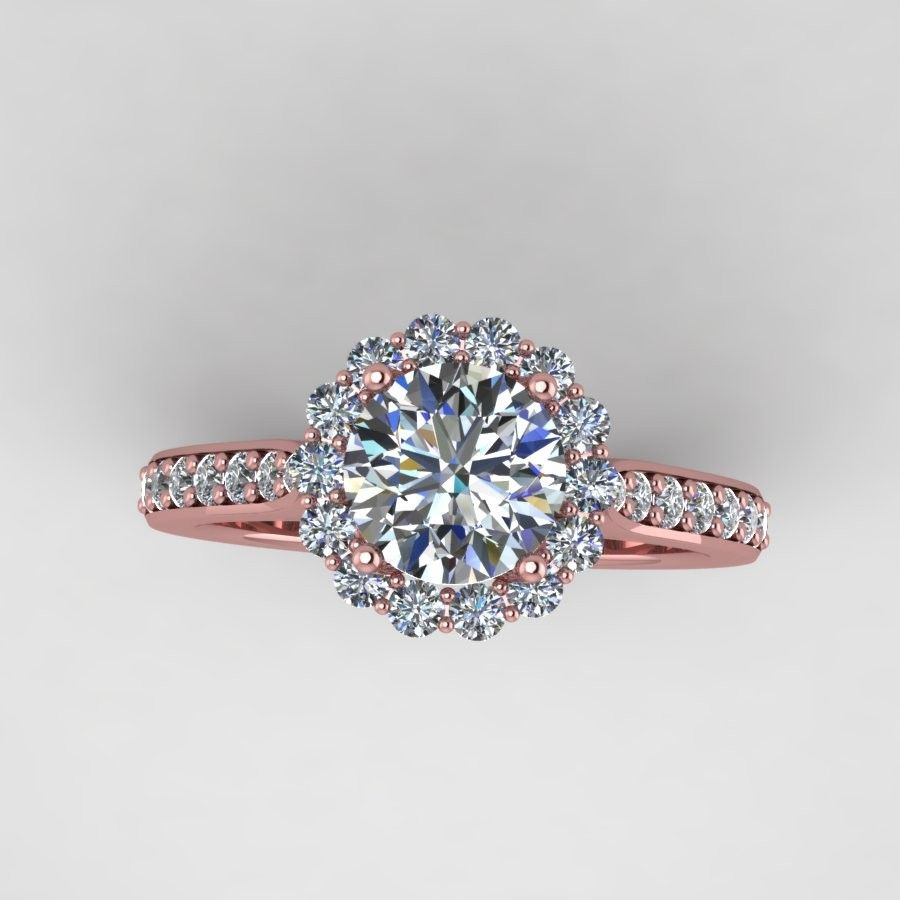 Rose diamond wedding rings rose gold diamond engagement ring with