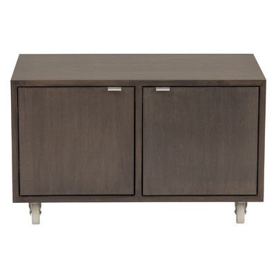 Urbangreen Media 2 Door Storage Cabinet Finish Blue Wood Veneer Painted Eco Mdf Products Door Storage Wood Storage Cabinets Cabinet
