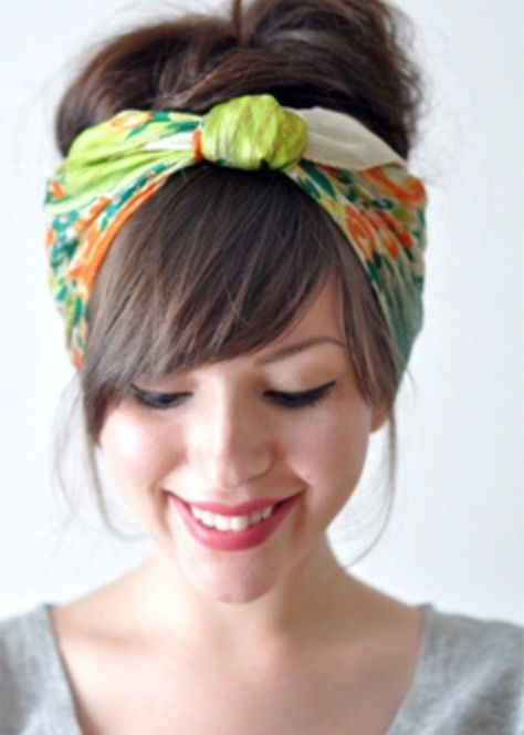 Perfect Headscarf With Bangs Hair Ideas In 2019 Scarf