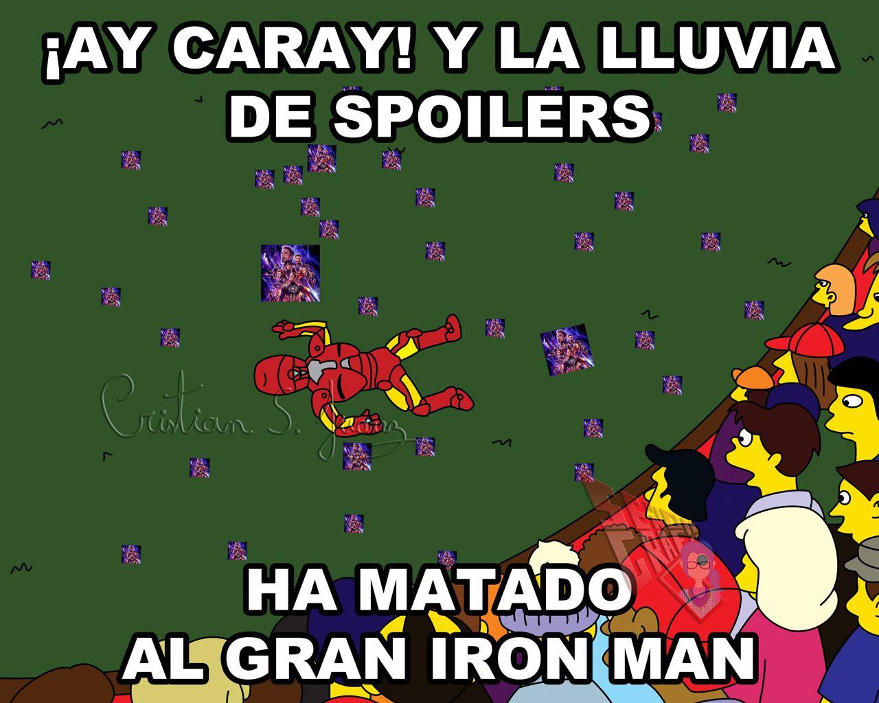 La Lluvia De Spoilers Ha Matado Al Gran Iron Man Memes Crossover Funny