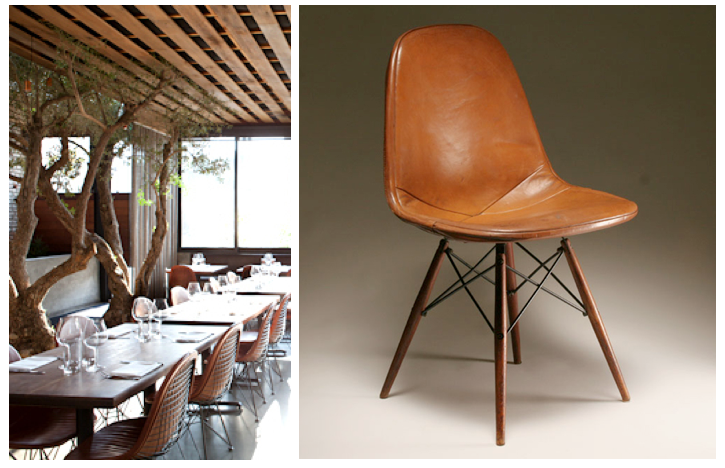 eames leather chair dining wedding covers yeovil tasting kitchen room love the molded plastic side s wood dowel bases with kick ass it