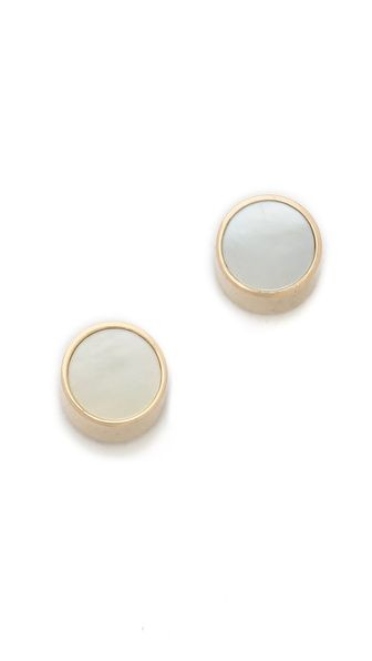 Ginette Ny Mother Of Pearl Stud Earrings