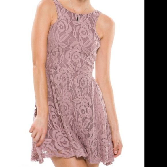 Lace Dress Pink print lace dress Dresses
