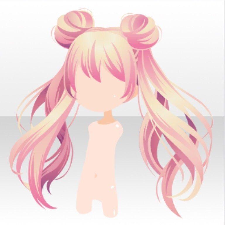 Hairstyle Magical Twin Horn Buns Hair Ver A Pink Manga Hair Anime Hair How To Draw Hair