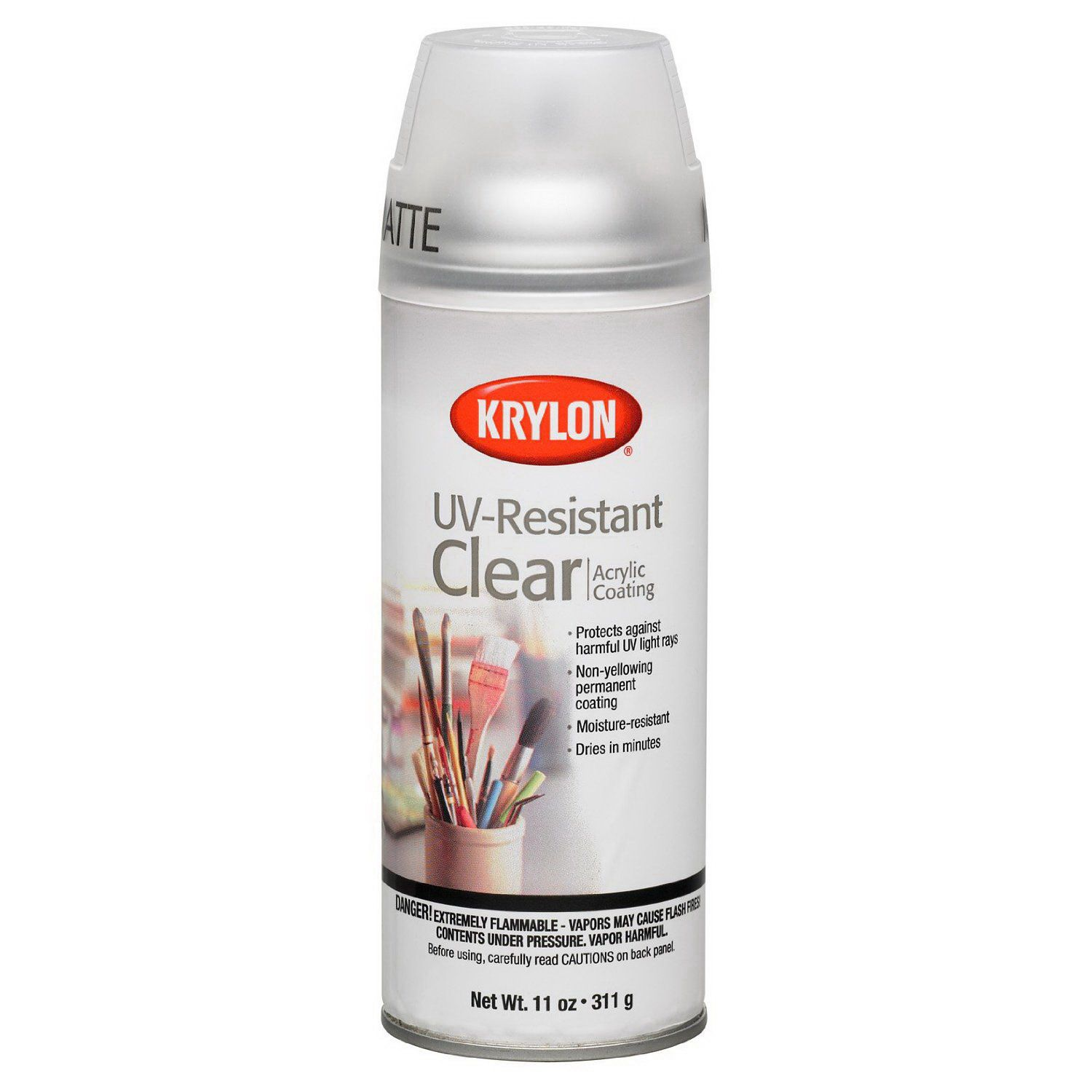 Krylon Gallery Series Artist And Clear Coating Aerosol 11 Oz Uv Resistant Clear Matte Krylon Painting Tile Acrylic Spray