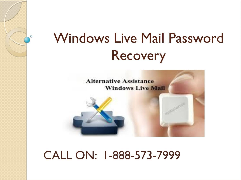 Windows live mail password reset not working Windows