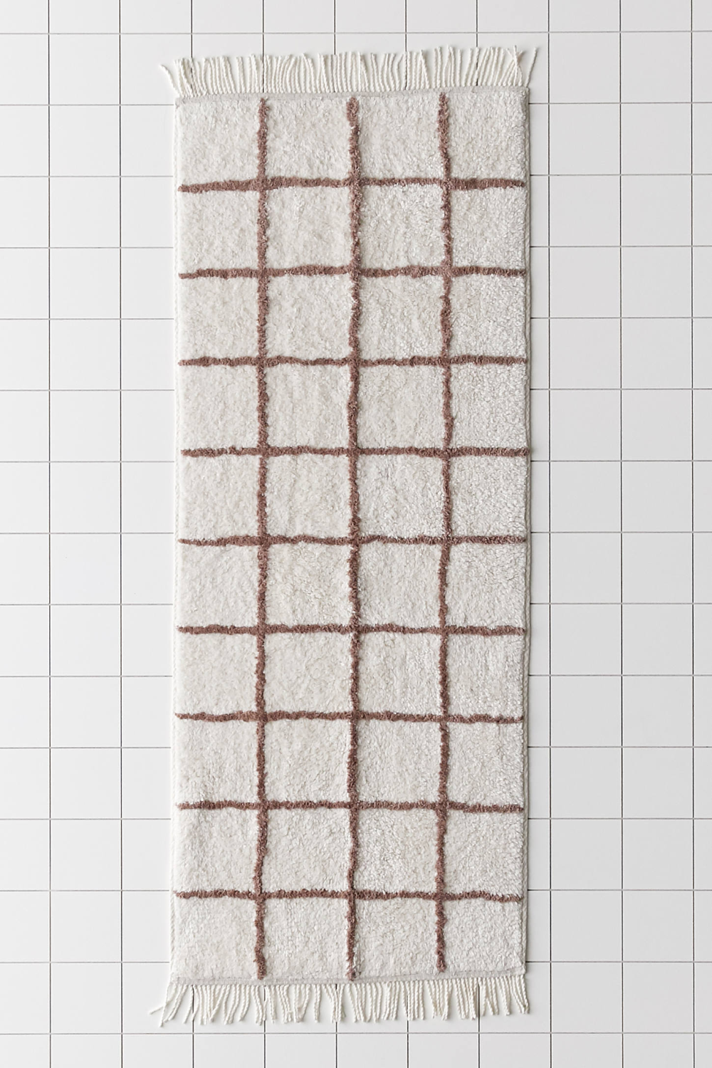 Wonky Grid Runner Bath Mat In 2020 Bath Mat Bath Rugs Bathroom Rugs