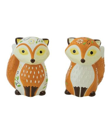 Fantastical Bird Salt And Pepper Shakers. Fox Salt  Pepper Shakers by Boston Warehouse Look what I found on zulily