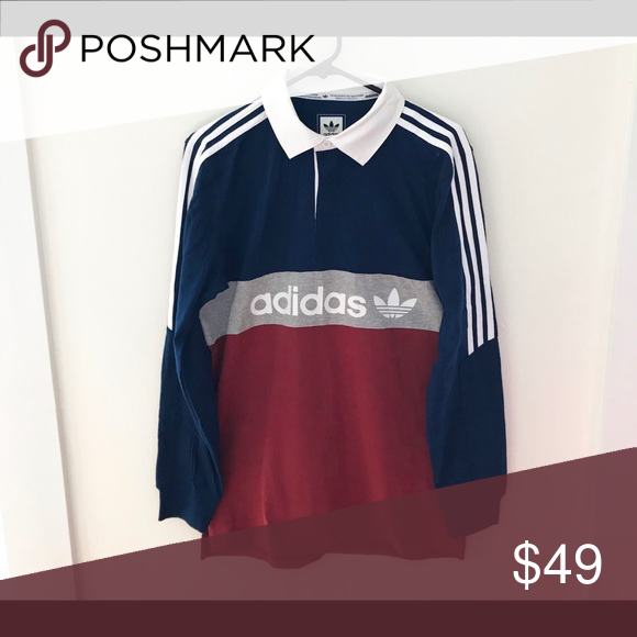 bfa9026d70a Adidas Skateboarding Rugby Shirt Deadstock w/tags. Color: Multi Men's Size:  Medium Retail Price was: $60 adidas Shirts Polos