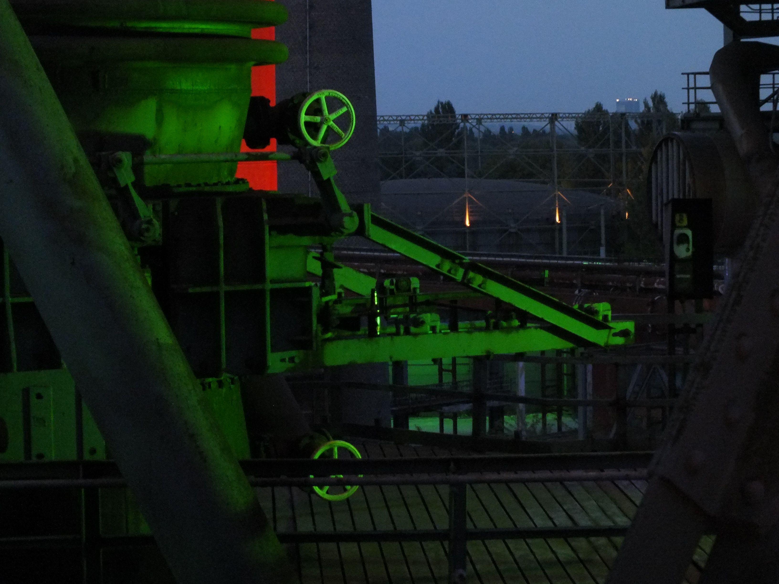 grüne Maschinen, Landschaftspark Duisburg - Foto: S. Hopp