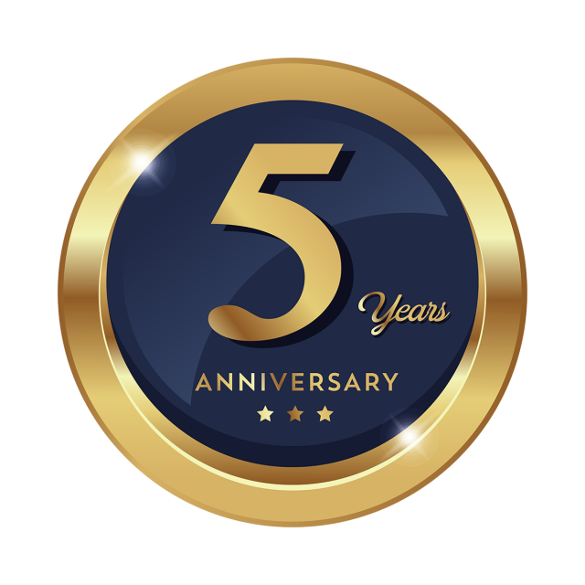 5th Anniversary Badge Logo Icon Png And Vector
