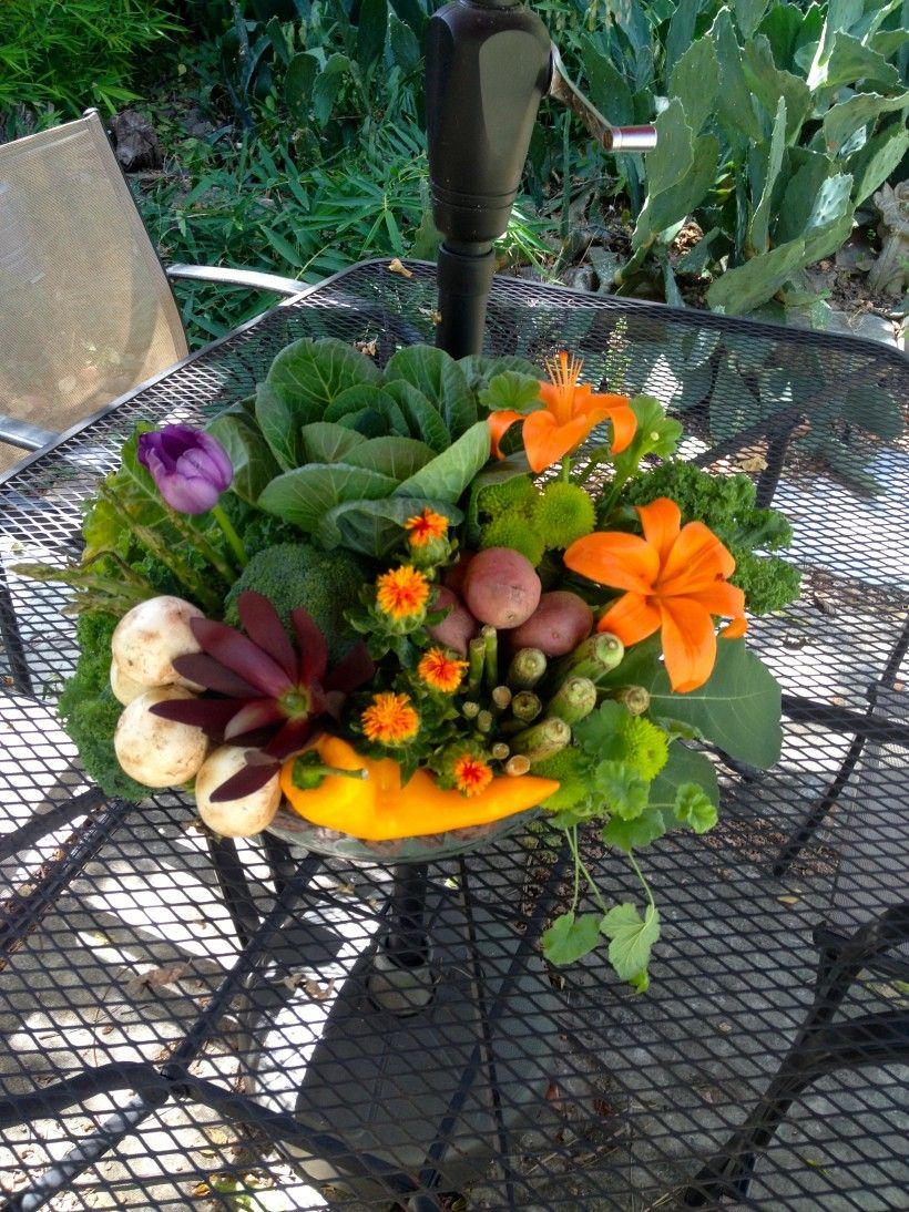 Veggies and Flowers and herbs, Oh My! | Flowers for the ...