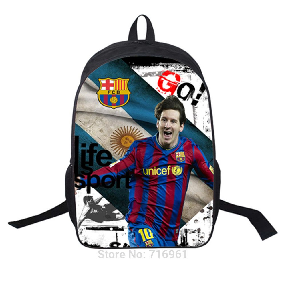 46596cfe1 Barcelona Messi Backpacks Ultralight School Bag for Boys and Girls Go Back  to School Bookbag Sports Bag