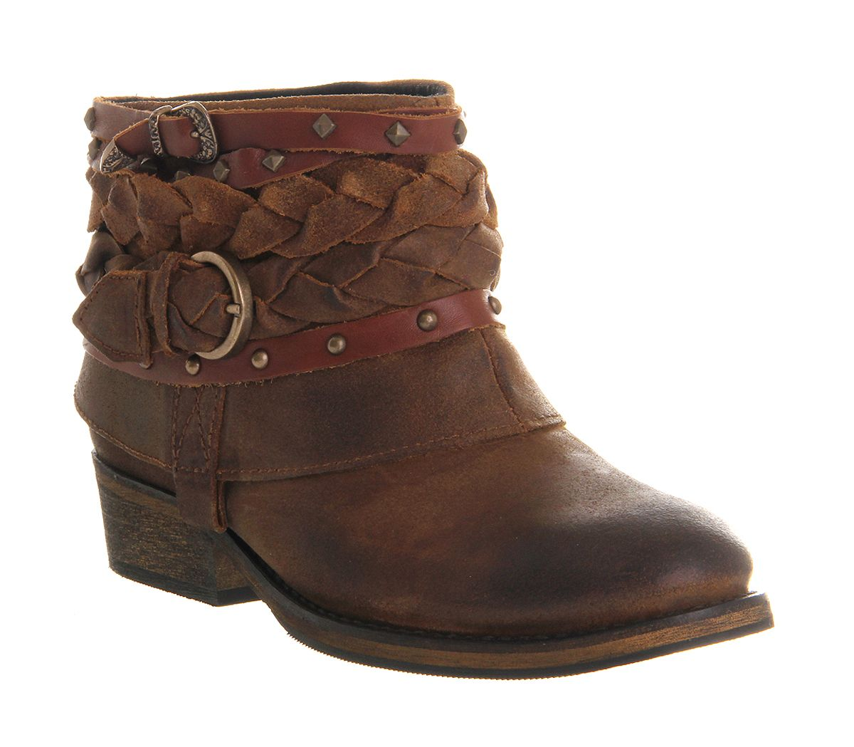 Womens Office Boho Boot Tan Suede Boots