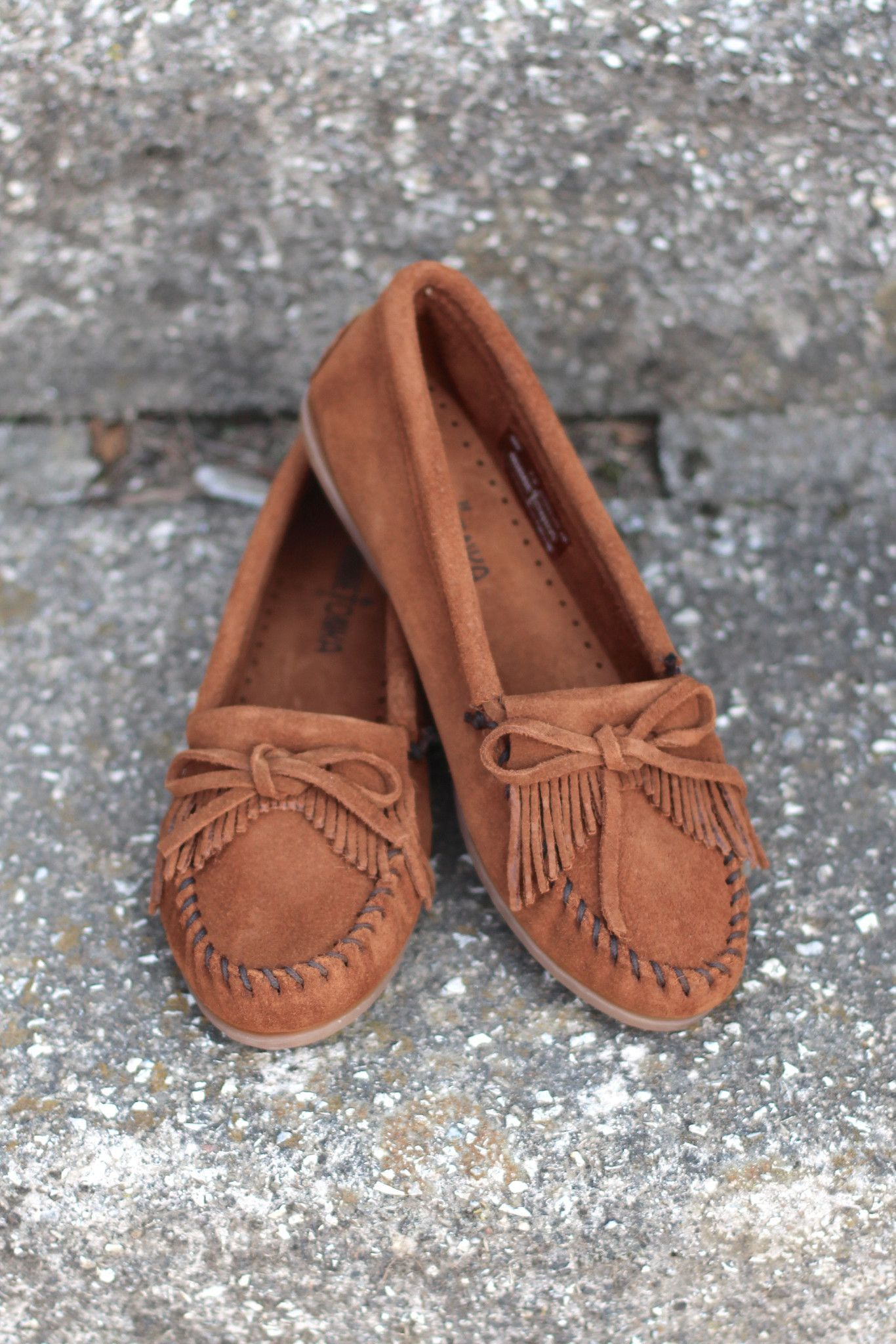 540cac17c05 Minnetonka  Kilty Moccasin  Brown  - The Fair Lady Boutique - 1 ...