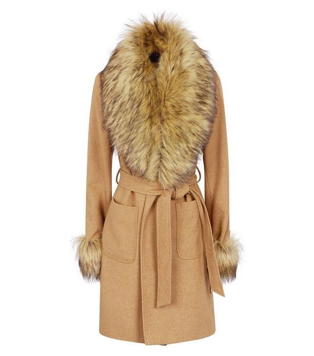 search for genuine find workmanship big discount sale Black Detachable Faux Fur Trim Coat | เสื้อผ้าหน้าหนาว ...