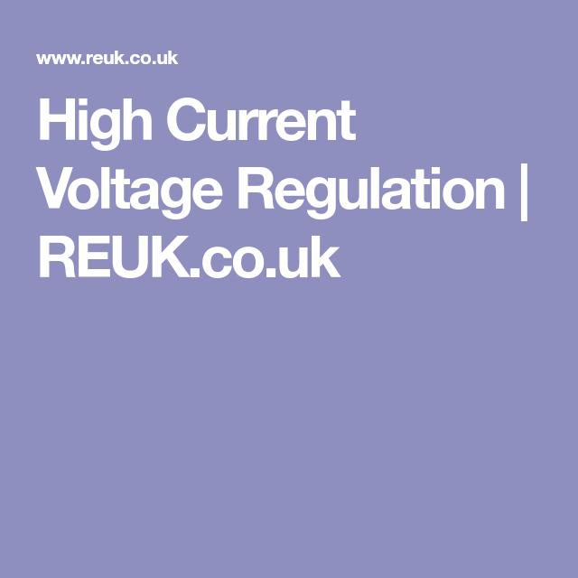 High current voltage regulation reuk electronics high current voltage regulation reuk freerunsca Image collections