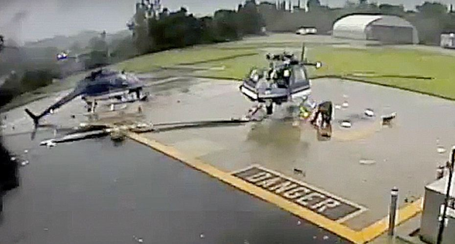 Two Police Helicopters Destroyed In Catastrophic Rotor