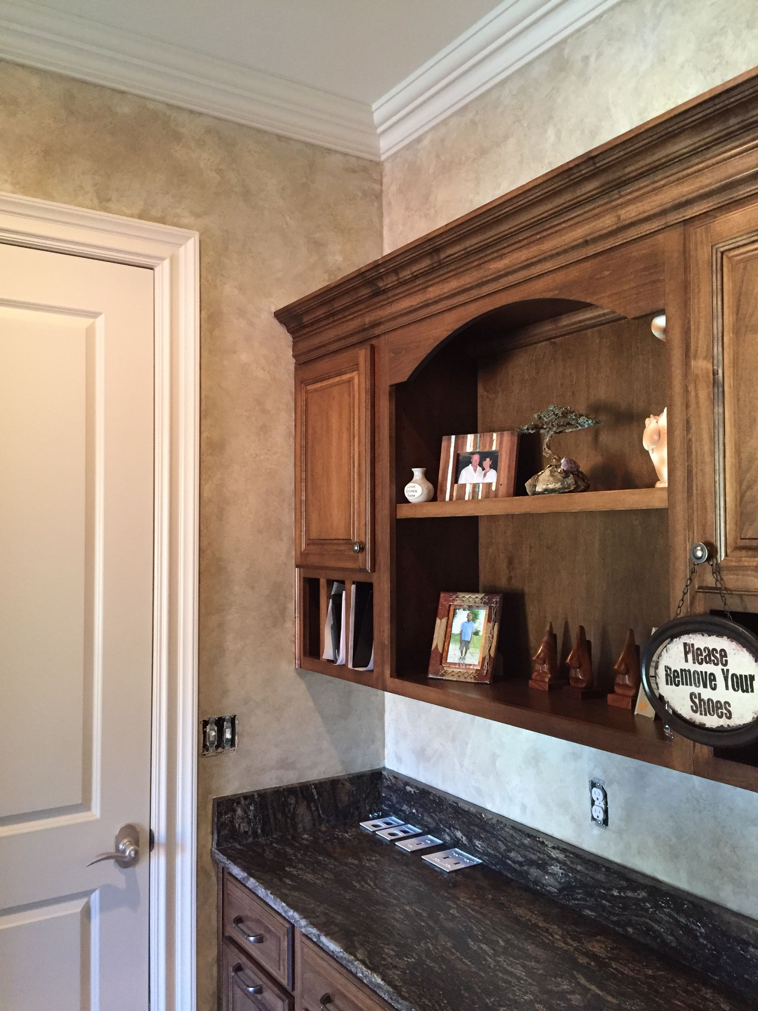 18th Century Parchment Wall Finish In Our Client S Laundry Room Wall Finishes Home Decor Decor