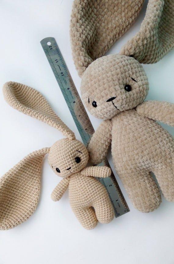 Photo of PDF Pattern Crochet Toy Cute Bunny Long Ears Amigurumi Pattern