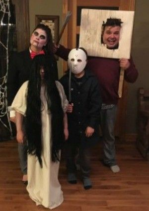 Scariest Diy Horror Movie Characters For A Family Costume In