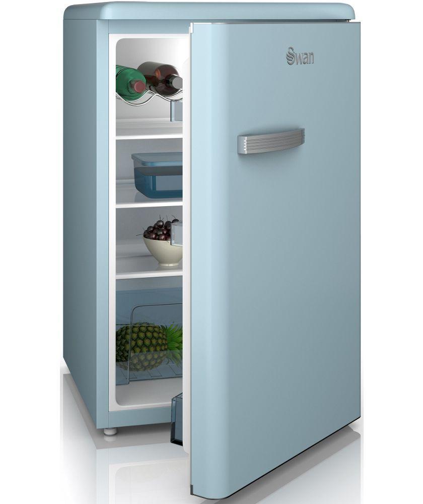 buy swan sr1103bln retro larder fridge blue at. Black Bedroom Furniture Sets. Home Design Ideas