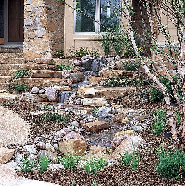 Small front yard water features ponds and pondless water for Front yard pond ideas