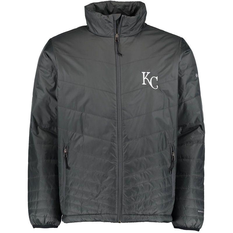 Kansas City Royals Columbia Mighty Lite Omni-Heat Full-Zip Jacket - Gray
