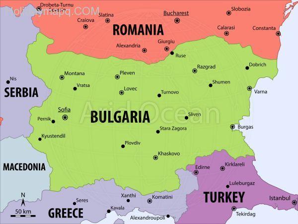 Cool Map Of Bulgaria Holidaymapq Pinterest Bulgaria - Bulgaria map
