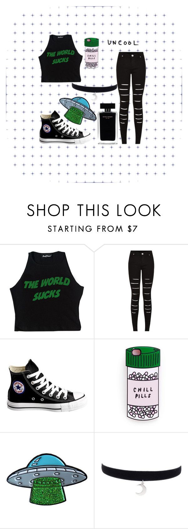 """""""W O R L D"""" by aesthetics-daily ❤ liked on Polyvore featuring Converse, Miss Selfridge and Narciso Rodriguez"""
