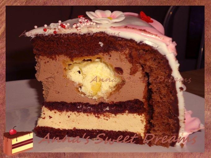 Торт суфле с профитролями