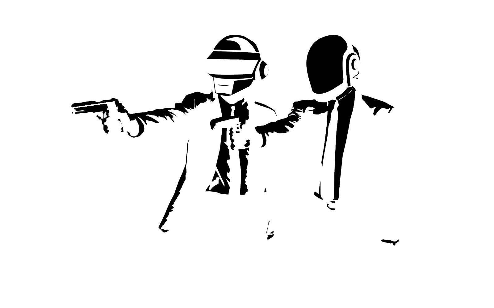 Futuristic Men With Guns Stencils